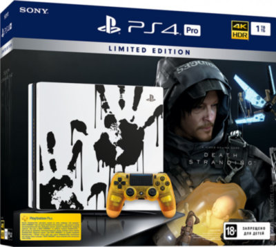 Игровая консоль Sony PlayStation 4 Pro (1TB) Black (CUH-7208В) Death Stranding Limited Edition + игра Death Stranding