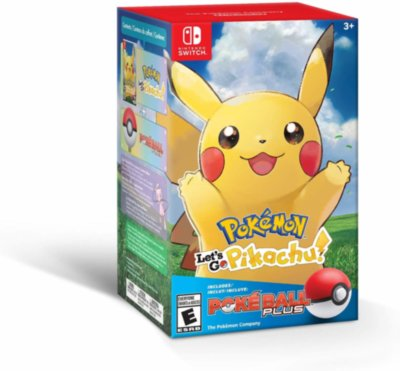 Poke Ball Plus + Pokemon: Let's Go, Pikachu! (Switch)