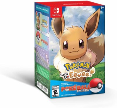 Poke Ball Plus + Pokemon: Let's Go, Eevee! (Switch)