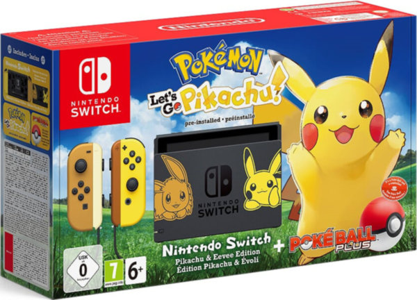 Nintendo Switch + Pokemon: Let's Go, Pikachu!