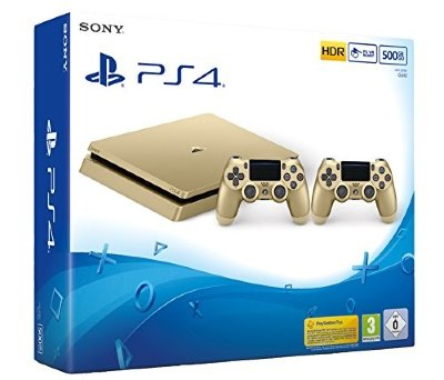 Playstation 4 Slim Gold (500 GB) + Dualshock 4 Gold