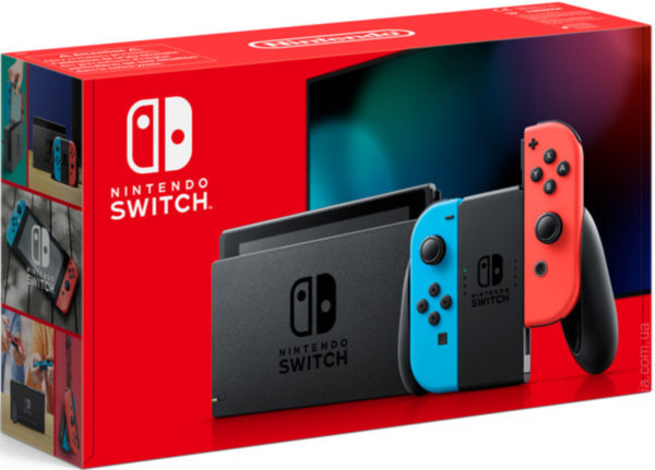 NINTENDO SWITCH V2 (NEON RED/NEON BLUE)